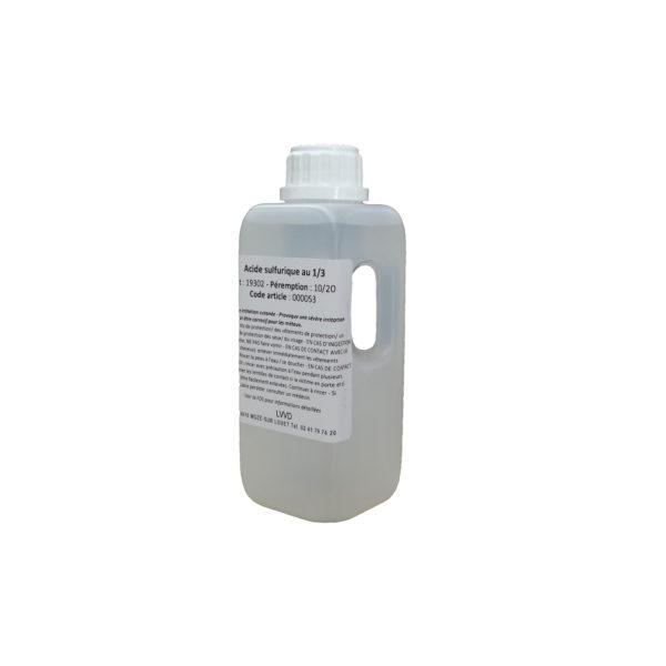 Flacon d'acide sulfurique
