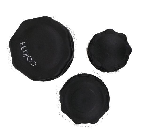 Bouchons en plastique noir
