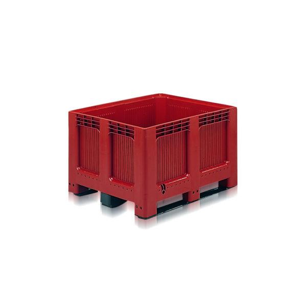Palox 373 litres plein 3 semelles rouge