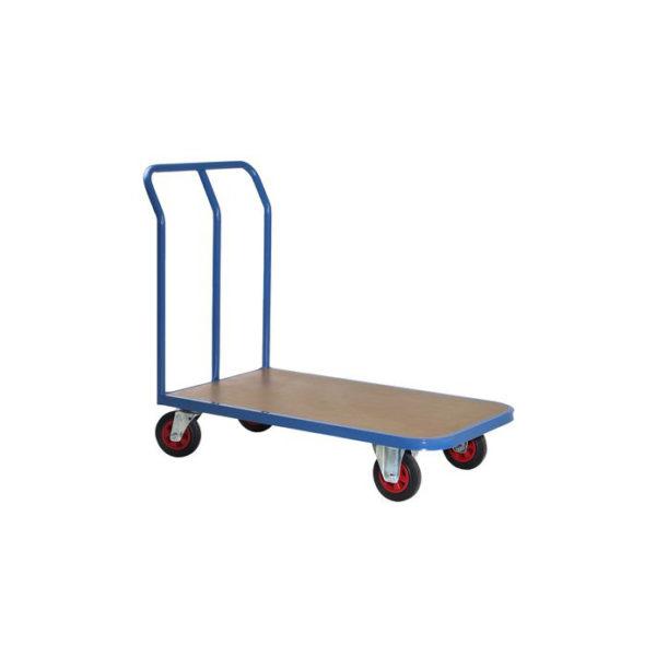 Chariot de manutention avec poignée bleue