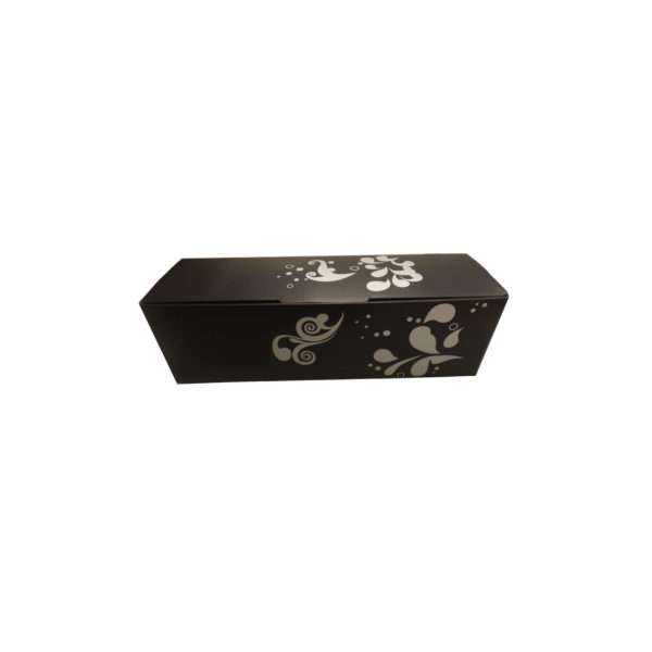 Coffret luxe pour 1 magnum Noir avec impression argent