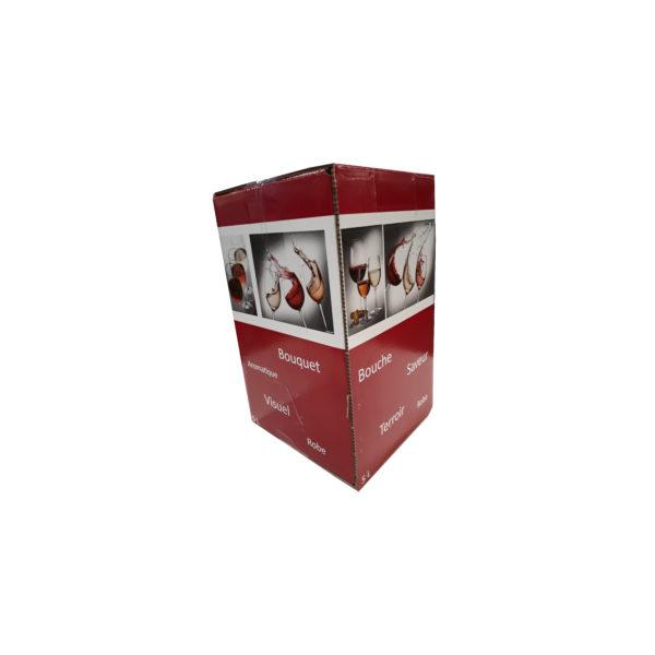 Carton BIB Verre Elegant 5L Rouge