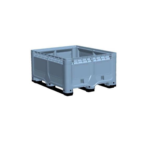 Palox ECOPLAST bleu 472 litres plein 3 semelles