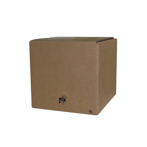 Carton BIB 5 L écru cube