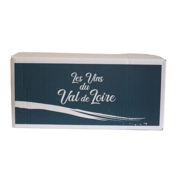 Carton 6 bouteilles Rabats Rentrants impression Val de Loire