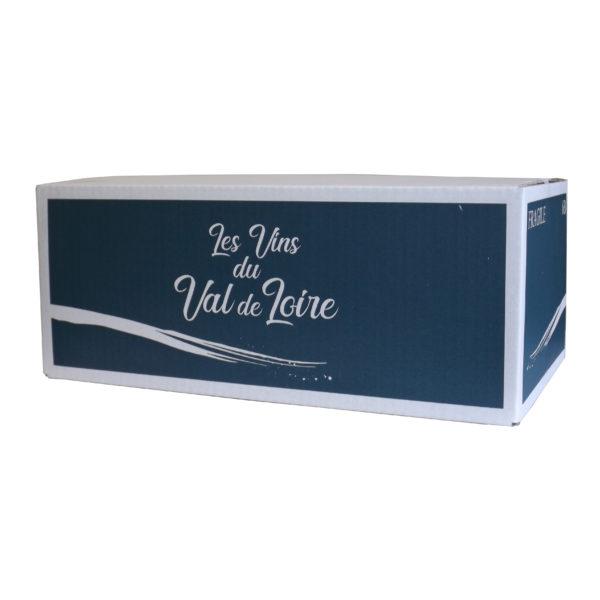 Carton 6 bouteilles vrac impression Val de Loire