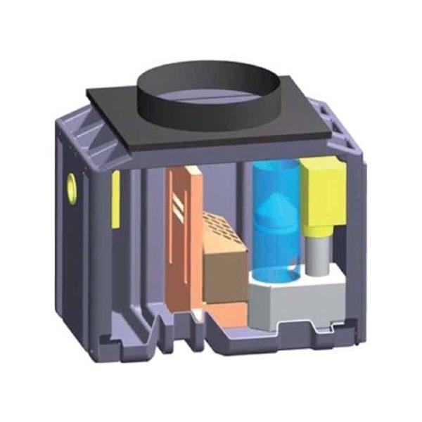 Schéma interne d'un séparateur d'hydrocarbures